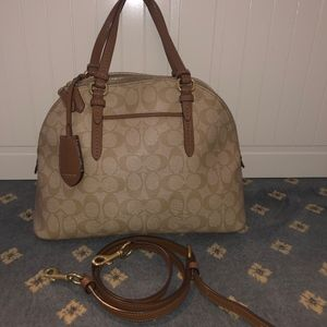 Coach Tan Peyton Purse